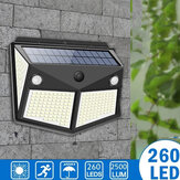 ARILUX 260LED Outdoor  Solar Light IP65 Waterproof Motion Sensor Solar Light Garden Courtyard Passage Security Lighting Black