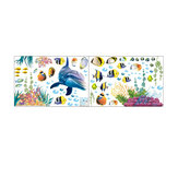 Underwater World Wall Sticker Home Office Wall Decorations Wallpaper Living Room Background Wall Art Poster