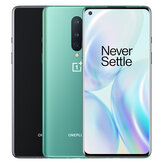 OnePlus 8 5G Global Rom 6.55 بوصة FHD + 90Hz Fluid عرض NFC Android10 4300mAh 48MP ثلاثي خلفي الة تصوير 8GB 128GB Snapdragon865 هاتف ذكي