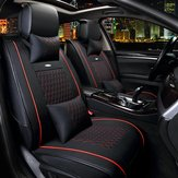 10pcs PU Leather Car Seat Cover 5 Seat Front and Rear Seat Cover Set Full Surround Needlework