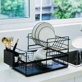 食器棚オーガナイザー水切りキッチン用品スプーンプレート水切り棚収納