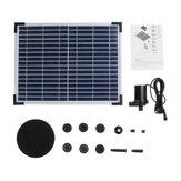 DC40Q-1702 Solar Kit de fuente de alimentación Solar Panel Garden Solar Fuente de agua de fuente flotante Bomba de agua