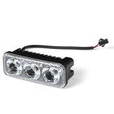 Araba Motosiklet Değişiklik Gündüz Çalışan Işık Süper Parlak Su Geçirmez Yüksek Güç 3 LED Lamba