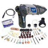 HILDA 220V 170W Variable Rotary Tool Electric Grinder Mini Dril lwith Flexible Shaft and 91pcs Accessories