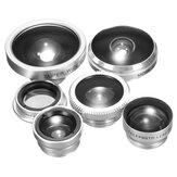 8 em 1 kit de lente de liga de alumínio portátil para fotografia de celular