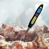 Loskii KCH-205デジタル食品温度計電気ワイヤレス肉温度計キッチン調理温度計BBQステンレスフォークプローブ