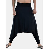 Herren Low Crotch Loose Slouchy Pants Baggy Hose