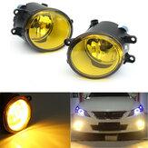Çift Ön Sis Işık Sarı Lens Ampuller ile 110W Toyota için Lexus için Scion için