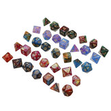 35Pcs Acrylic Polyhedral Dice 7 Colors Various Shape Dice With Bags for DND RPG MTG Role Playing Board Game
