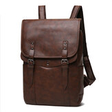Zaino casual vintage da uomo Soft Laptop in pelle Borsa