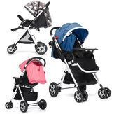 Ayarlanabilir Bebek Puset Gezginci Katlanabilir Buggy Hafif Jogger Seyahat Araba