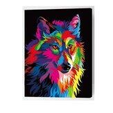 Oljemaleri sæt nummer kit flerfarvet ulv DIY pigment maleri kunst håndværktøj