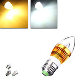 E27 E14 B22 E12 4.5W LED Chandelier Candle Light Bulb 85-265V