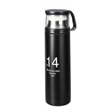 BIKIGHT 500ml 304 Stainless Steel Water Bottle Insulation Cup Thermal Cup Camping Riding Hunting