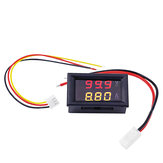 Digital Voltmeter Ammeter Car Current Meter Dual Display 100V 10A DC Gauge Amperemeter Red+Yellow LED Tester Voltage Monitor