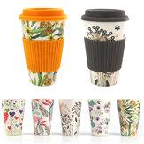300-450MLPortableTravelHerbruikbareBambooFiber Coffee Cup Eco-vriendelijke Water Drinking Mug