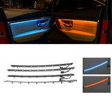 Iluminado LED Interior Coche Puerta Ambiente Luz Decoración Ambiente Lámpara Conjunto Para BMW F30 F31