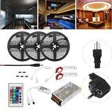 15 M Não-à prova d 'água SMD5050 RGB Alexa APP Início Wifi Controle Inteligente LED Kit de Luz de Tira AC110-240V