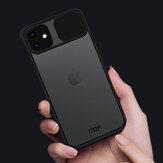 MOFI pour iPhone 11 étui Anti-Hacker peeping slide lentille couverture antichoc Anti-rayures translucide mat étui de protection en Silicone