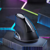 Inphic M80 2.4G Wireless Vertical Mouse 1600DPI Ótico Recarregável Mouse para PC Laptop
