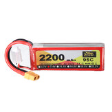 ZOP Power 7.4V 2200mAh 95C 2S Lipo Battery XT60 Plug for RC Racing Drone