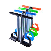 KALOAD Single/Double Spring Resistance Bands Elastic Pedals Fitness Exerciser Yoga Abdominal Muscle Puller