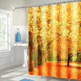 71''x71''AutumnDeciduousForestضد للماء ستائر حمام البوليستر مع خطاف