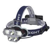 XANES® 6-Modları 2400LM 3 * T6 LED Far USB Şarjı Outdoor Aydınlatma Çalışma Işığı Su Geçirmez Bisiklete binme için Baş Torch Balıkçılık