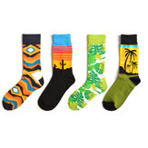 Men Coco Cactus Cotton Tube Socks