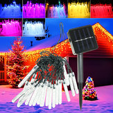 4.8M 20 LED Bolha Icicle Fada Corda Luz Solar Power Party Lâmpada de Natal