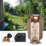 Solarbetriebene Vintage Metall LED Lantern Light Outdoor Garten Landschaft Yard Lampe