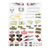 PXtoys 9303-1 1/18 DIY Stickers Decals Sheet Body Accessoire RC Auto Voertuigen Model Onderdelen PX9300-25C