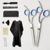 10 Pcs Tooth Shears Flat Shears Haircut Comb Set Household Hair Cutting And Hairdressing Tools