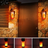 Lumière de mur de flamme solaire lampe de paysage de jardin de cour extérieure 3 modes d'éclairage