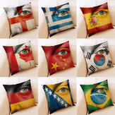 Honana BX National Flag With Eye Pattern Luxury Cushion Cover Throw Pillow Case Pillow Covers