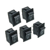 5Pcs Bouton Poussoir Noir Mini Commutateur 6A-10A 110V 250V KCD1-101 2PIN Snap-in Commutateur On / Off à Bascule
