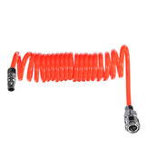 5mm Inner Diameter PU Spriral Air Hose 3-15 Meters Long with Bend Restrictor 1/4 Inch Quick Coupler and Plug