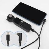 Osmo pocket 100 cm verlengkabel usb kabel micro usb naar Type C 1 m Nylon draad voor DJI gimbal android smartphone