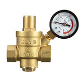 DN15 1/2' Inch Brass Water Pressure Reducing Regulator Reducer & Gauge Adjustable