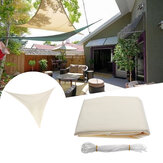 2.4x2.4x2.4M Triangolo parasole vela baldacchino patio giardino tenda UV Block Top Shelter Beige