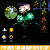 Solar Powered LED Lawn Light Simulation Colorful Flower Outdoor Garden Yard Lamp for Outdoor Path Home Decor