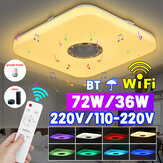 72/36W Smart RGB LED Ceiling Lights Lamp Wireless Remote Control Bluetooth APP Control