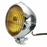 4 Inch 35W 12V Motorcycle Headlight H4 Amber Light Headlamp For Harley Bobber Chopper