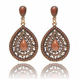Bohemian Water Drop Diamond Earring