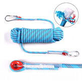 12mm 10M/20M Rock Climbing Rope Tree Wall Climbing Equipment Gear Outdoor Survival Fire Escape Rescue Safety Rope