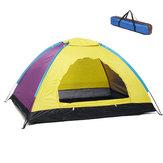 2 Person Waterproof Camping Tent Oxford Cloth Outdoor Travel Portable Shelter  Yánsè suíjī 4/5000 Random Color