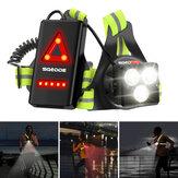 Luz de corrida noturna ao ar livre 500lm 3 modos IPX4 à prova d'água luz de carregamento USB para corrida, caminhada, caminhada