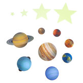 Luminous Planets PVC Wall Stickers Glow In Dark Ten Planets Bedroom Wall Decal Paper Stickers Decoration