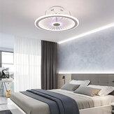 110 / 220V Soffitto lampada Oscuramento continuo con luci del ventilatore elettrico Luci moderne e minimaliste per sala da pranzo e camera da letto Controllo APP + remoto Controllo + Regolazione continua del colore + Regolazione della velocità a tre velo