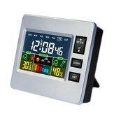 Loskii DC-07 Orologio Sveglia Digitale con Funzione di Calendario Temperatura Igrometro Previsioni di Tempo Meteo